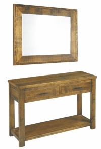 Rustic Hall Table & Mirror