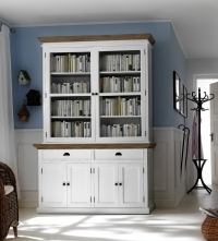 BCA594rt Bookcase/Buffet & Hutch